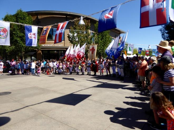 Flag Throwers ready