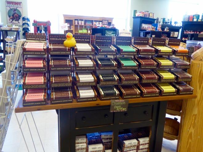 Huge variety of chocolate bars