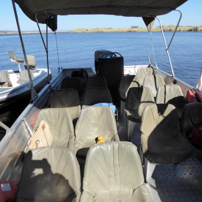 Ready for boat safari