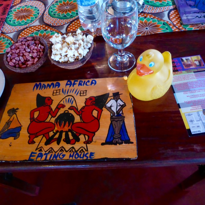 Great placemat. And peanuts and popcorn