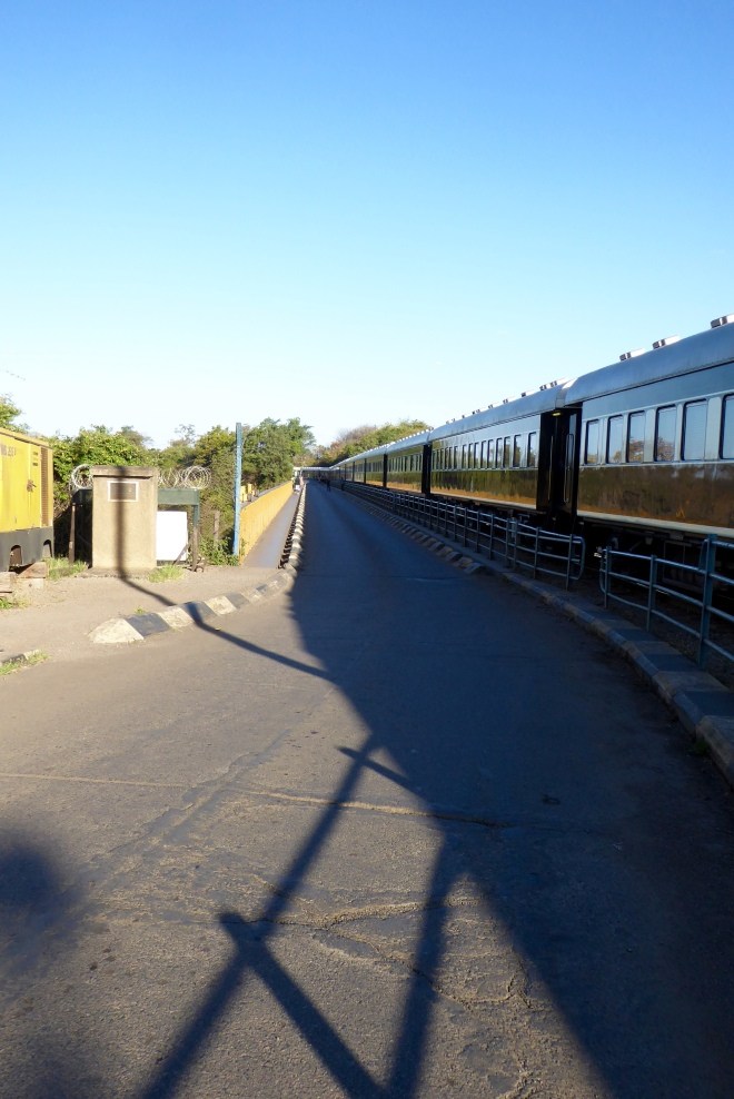 Train, Pride of Africa, going over Victoria Falls Bridge