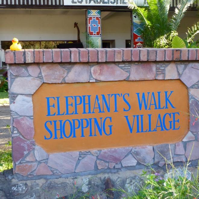 Elephant Walk Shopping. Many beautiful craft stores inside.