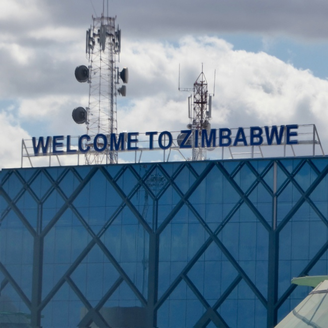 Back to the Zimbabwe airport in the city of Victoria Falls