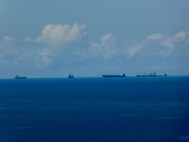 Ships on Maputo Bay