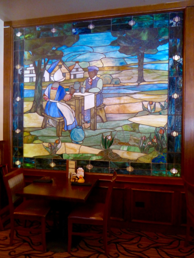One of several murals in bar at Oxford Hotel