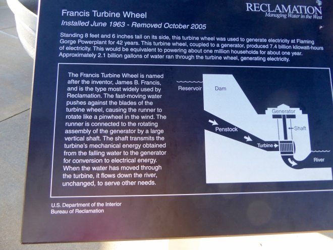 We sat on this turbine. It was really used for 42 years