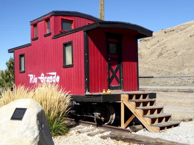 Caboose formerly used in Salida