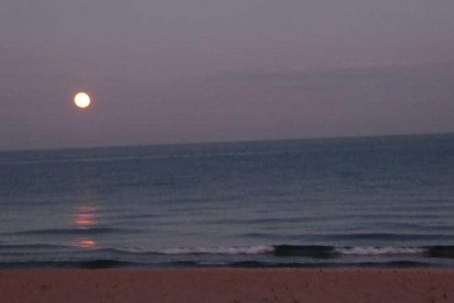 Moon rising over Lake Malawi