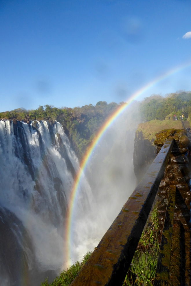 Rainbow Falls at Victoria Falls, Zambia