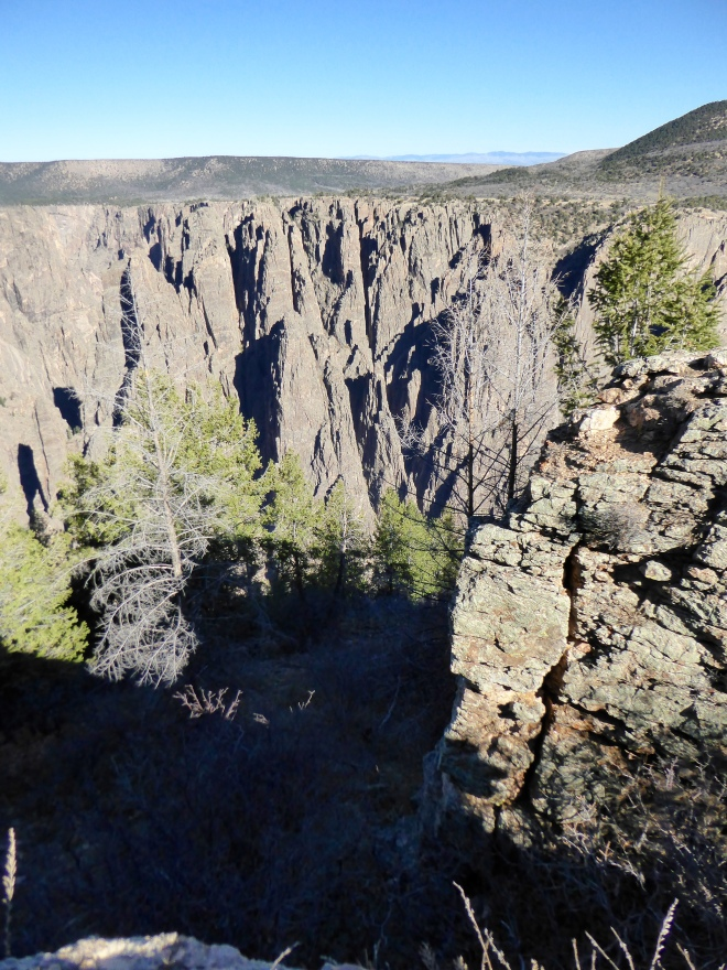 Steep wall of the Black Canyon