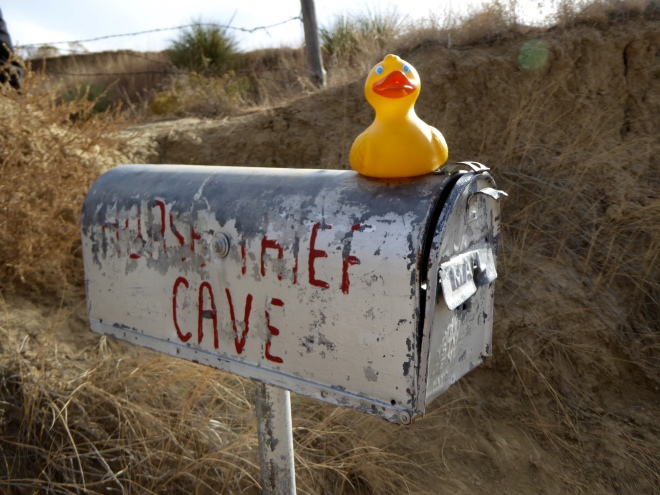 A mailbox for Horse Thief Cave?