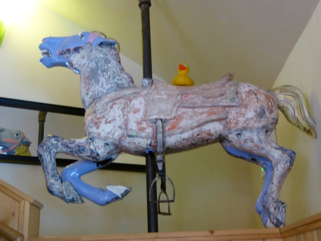 Traditional carousel horse