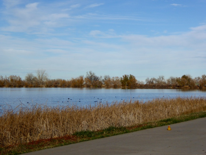 Paved trail around Crown Hill Lake