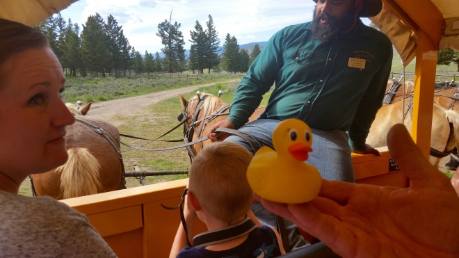 Riding in wagon