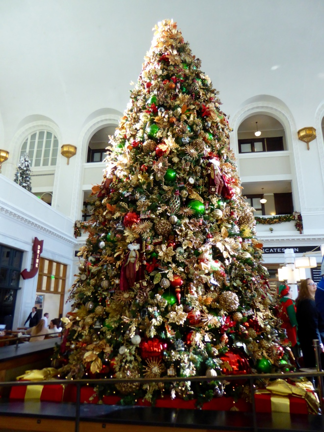 Beautiful tree inside Denver's Union Station