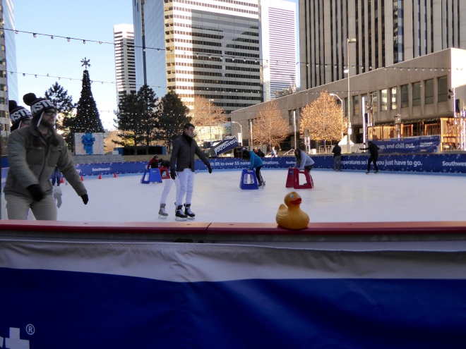 Ice skating in downtown Denver