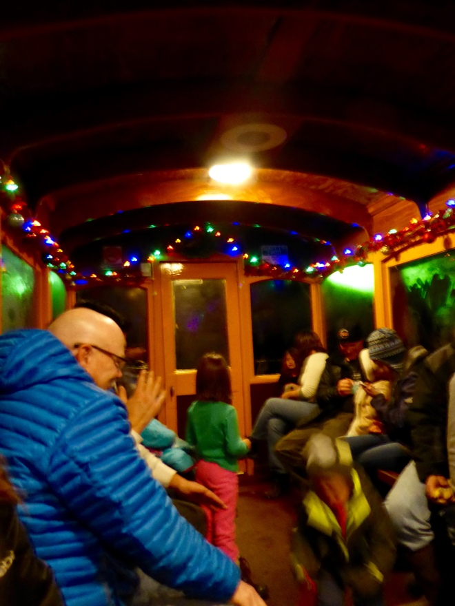 Inside night train