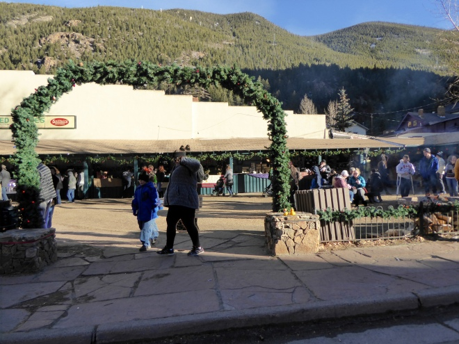 Entering Christmas market