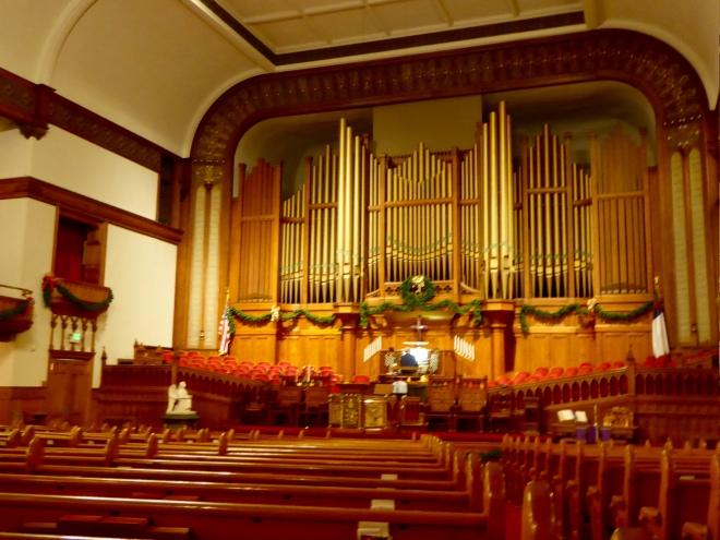 From balcony toward organ