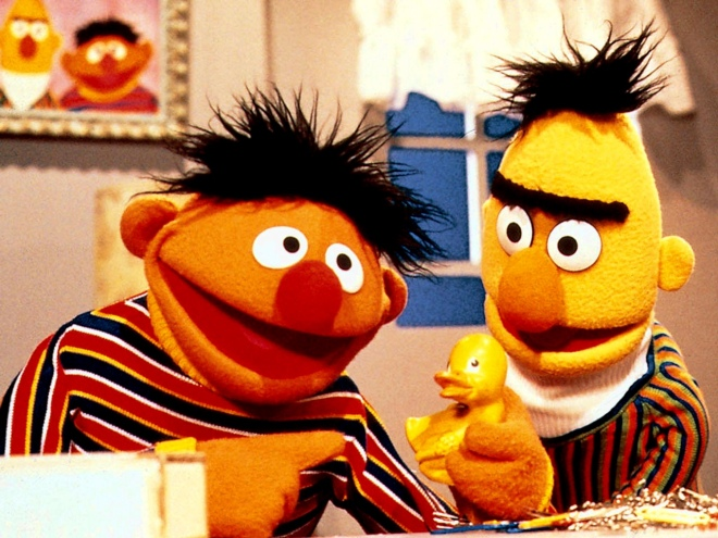 Ernie, Bert and Rubber Ducky from Sesame Sreet
