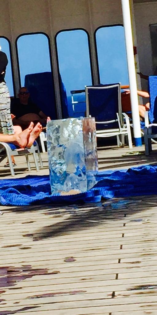 Beginning block of ice