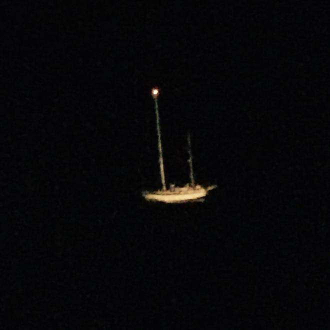 Sailboat in distress