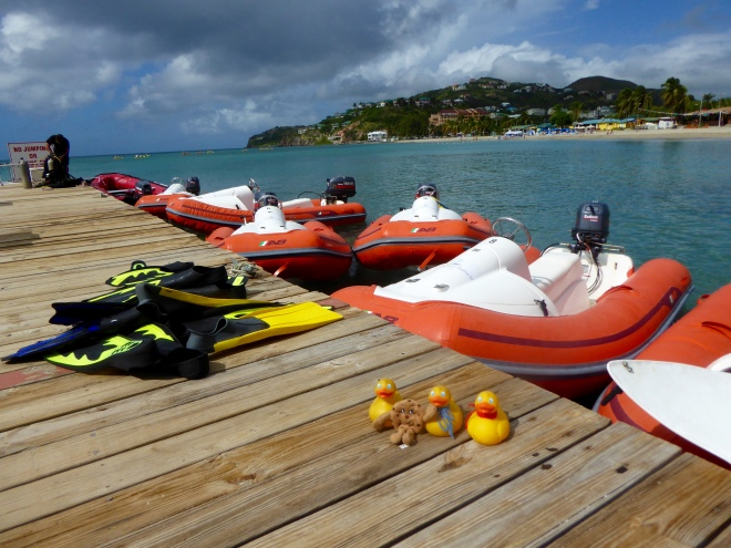 Mini Speedboats and snorkeling equipment