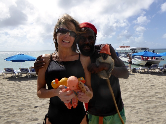 Soapy's mom and monkey owner
