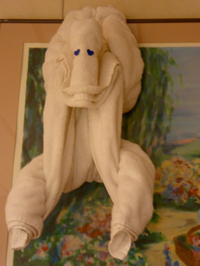 Towel monkey in our room