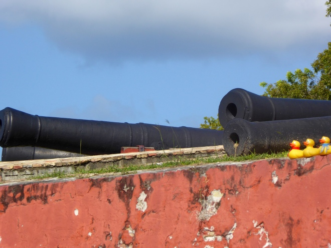 Old canons on Caribbean coast