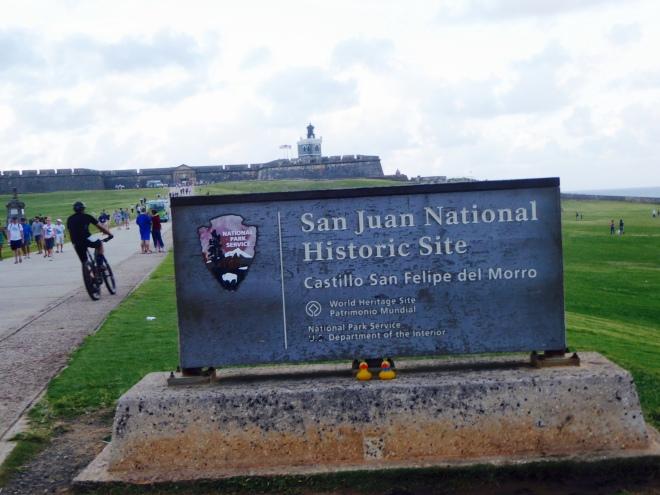 Here is the sign. Where is Castillo San Felipe del Morro?