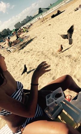Bucket's mom sharing with birds