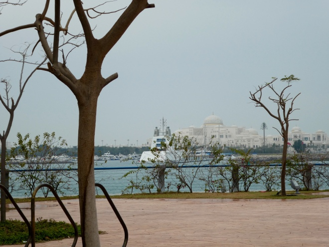 Emirates Palace Hotel across water