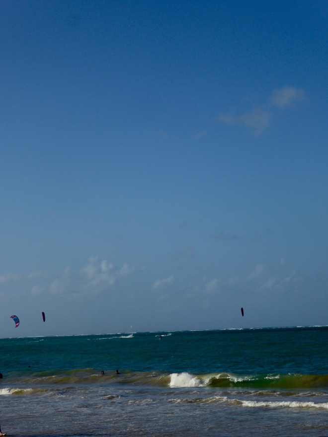 Kite boarders here