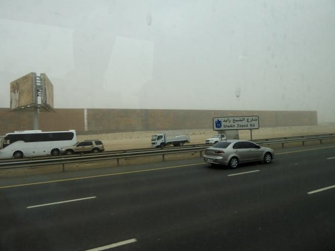 Sheikh Zayed Road between Dubai and Abu Dhabi
